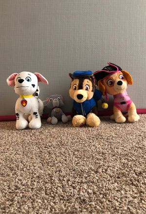 Paw patrol stuffed animals for Sale in Gilbert, AZ