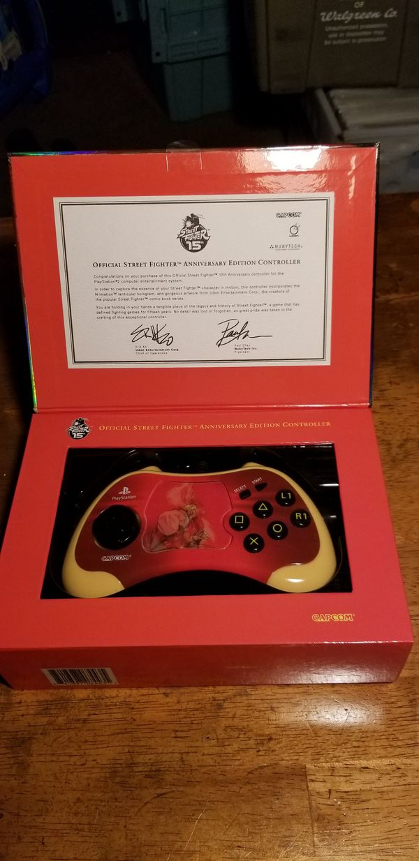 OFFICIAL SPECIAL ANNIVERSARY STREET FIGHTER PS2 CONTROLLERS