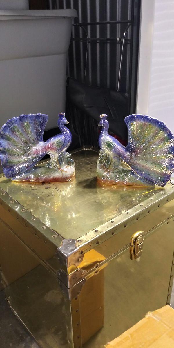 Ceramic Peacocks