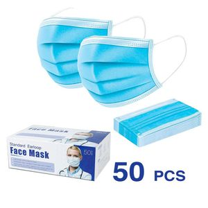 3 Ply Disposable Mask Box Of 50pcs for Sale in Spring Valley, NV