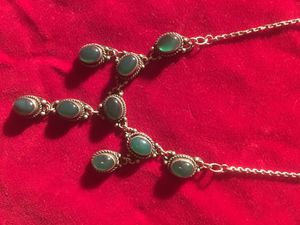 Victorian Style Green Moonstone Sterling Necklace for Sale in Nashville, TN