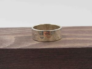 Size 6.5 Sterling Silver Rustic Hammered Band Ring Vintage Statement Engagement Wedding Promise Anniversary Bridal Cocktail Friendship for Sale in Lynnwood, WA