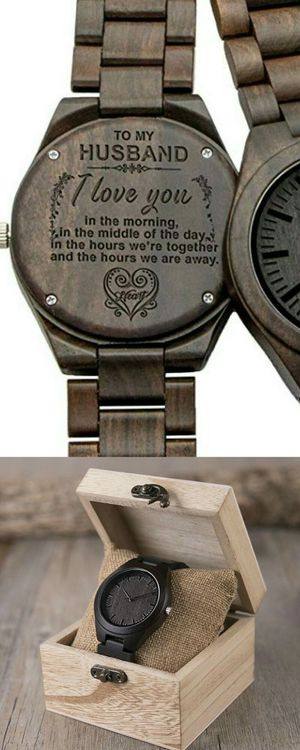 For Husband Engraved 100% Natural Wood Quartz Watch and Bracelet Gift Set Brand New in Wooden Gift Box for Sale in Boca Raton, FL
