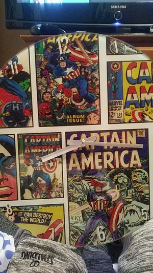 Captain America collectible glass clock for Sale in French Camp, CA