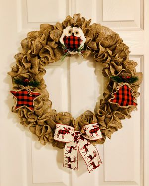 New Custom Made Winter Themed Door Wreath for Sale in Johns Island, SC
