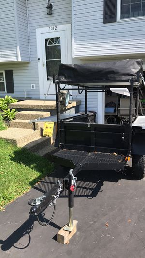 Morris Mule Utility Trailer with Smitty Built pop up tent for Sale in Newark, OH