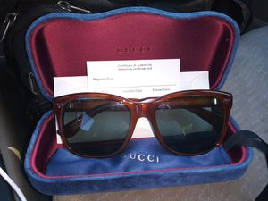Authenticated Certificate From Gucci W/Lens UV Protection Level Pamphlet for Sale in Federal Way, WA