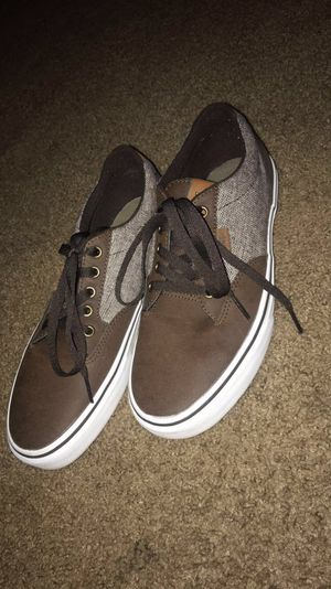*SELLING FOR A FRIEND* Brown leather Vans for Sale in Rialto, CA