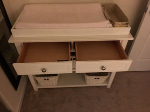 Pottery Barn changing table with baskets for Sale in Elkridge, MD