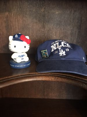 DODGER FANS!!! 2013 Nationals Champions Dodger blue baseball cap with dodger hello kitty for Sale in San Dimas, CA
