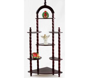 Home Craft 3-Tier Wall Corner Shelves, Cherry A10-9340 for Sale in St. Louis, MO