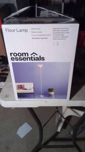 Room essential- floor lamp plastic shades for Sale in Compton, CA