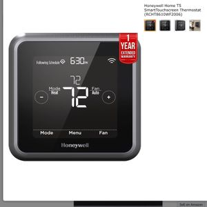 Honeywell Home RCHT8610WF2006/W, T5 Smart Thermostat, Black for Sale in Las Vegas, NV