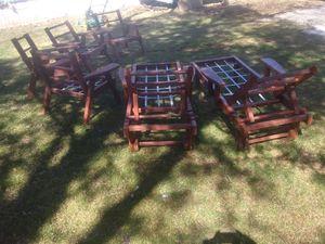Redwood patio furniture for Sale in Kearneysville, WV