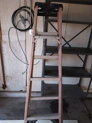 2 fiberglass commercial A frame ladders 8' & 12' for Sale in San Clemente, CA