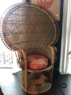 Vintage Rattan Peacock Chair for Sale in Portland, OR
