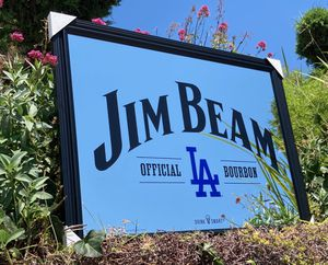 "Jim Beam Los Angeles Dodgers MLB Baseball Beer Bar Mirror ""New"" for Sale in Monterey Park, CA"