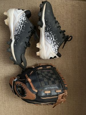 Baseball glove and cleats for Sale in Newport News, VA