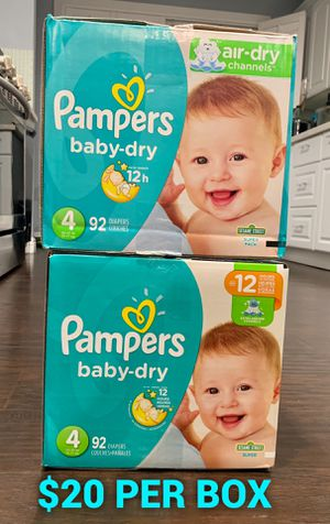 Pampers baby dry size 4 for Sale in Long Beach, CA