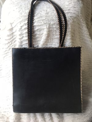 Levenger Black Leather Bag/Tote for Sale in South Windsor, CT