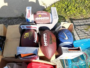 4 FOOTBALLS. (Brand New) $40 FOR ALL. NICE DEAL for Sale in Aurora, IL