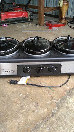 Crock-Pot trio slow-cooker for Sale in Jonesboro,  GA
