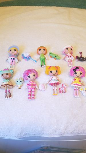 6 lalaloopsy minis dolls girls, 1 Lalaloopsy minis boy & 7 pets pets for Sale in Riverside, CA