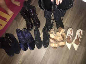 7 pairs of STEVE MADDEN Heels/wedges/Booties/boots size 7.5 and 6 (fit my 7.5 foot) for Sale in Los Angeles, CA