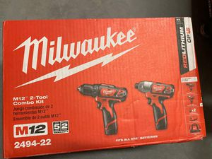 Milwaukee M12 12-Volt Lithium-Ion Cordless Drill Driver/Impact Driver Combo Kit (2-Tool) for Sale in Kissimmee, FL
