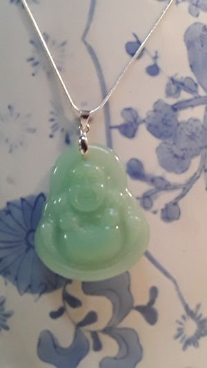 Antique Chinese Jade Buddha necklace for Sale in Reidsville, NC