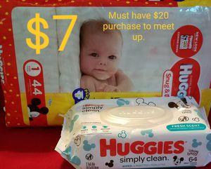 Huggies Diapers & Wipes $7 for Sale in Douglasville, GA