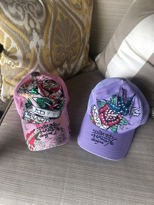 Don Ed Hardy Designs cap hat rhinestones pink purple for Sale in Dallas, TX