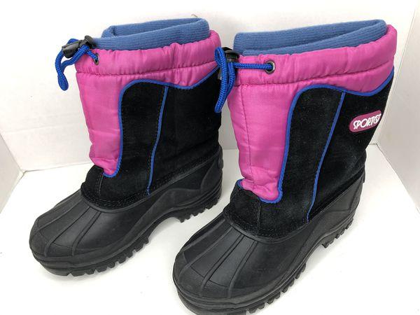 Sporto Girl's Snowplay G Winter Boots EUC Kid's Size 13
