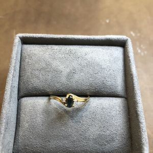 Vintage 10K Yellow Gold Ring With Sapphire & Diamonds for Sale in Ashburn, VA