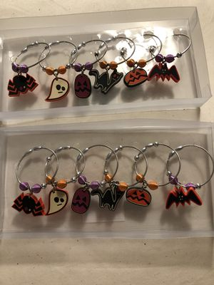 Halloween wine glass charms (2 sets) for Sale in Chicago, IL