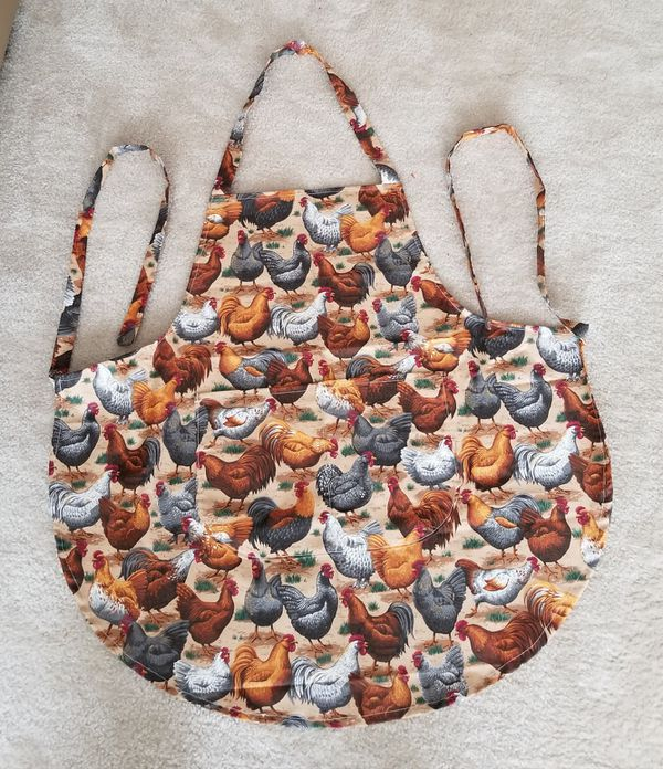 Rooster/Hen Cooking Apron/Handmade/New