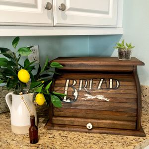 Vintage Wooden Roll Top Bread Box for Sale in Corona, CA