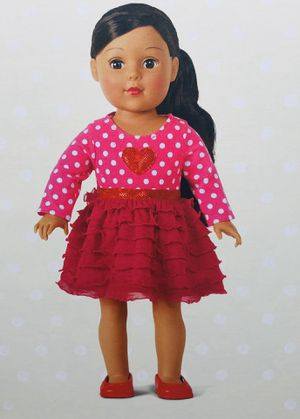 Madame Alexander Doll - Hearts and Ruffles Outfit~ Fits American Girl Dolls for Sale in Cerritos, CA