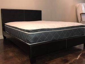 BRAND NEW QUEEN SIZE BED AND PILLOW TOP MATTRESS (FREE DELIVERY) for Sale in Dallas, TX