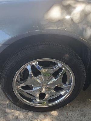 "5 lug 17"" chrome element rims wheels for Sale in Lynwood, CA"