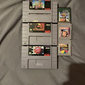 Super Nintendo Entertainment System Games And Gameboy Games for Sale in Glendale, AZ