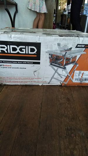 Ridgid 15 Amp Corded 10 in. Compact Table Saw with Carbide Tipped Blade and Folding X-Stand. Bnib $175 for Sale in Conshohocken, PA