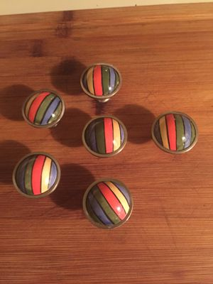 Colorful cabinet knobs set of 16 for Sale in Boca Raton, FL