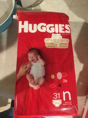 Huggies diapers newborn for Sale in Los Angeles, CA
