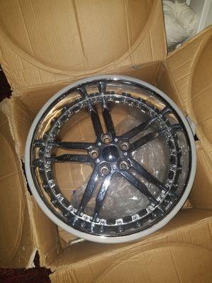 Niche 20 inch chrome rims 5 x 114 all 4 rims for Sale in Boston, MA