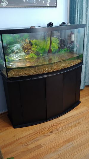 72 gallon bow front aquarium tank for Sale in Gaithersburg, MD