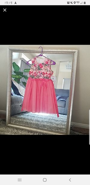 Girls size 12 butterfly and flowers applique mesh top dress for Sale in Las Vegas, NV