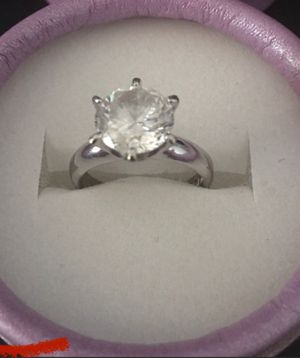 VTG Silver 950 6 Prong Solitaire 3ct Ring. for Sale in Las Vegas, NV