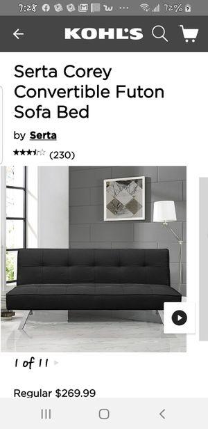 Serta corey convertible futon New in box for Sale in Riverside, CA