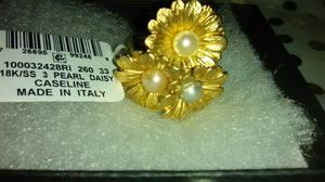 18 Karat gold/SS Real Pearls ring for Sale in Columbus, OH